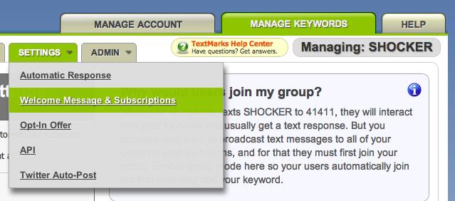 TextMarks | Send Text Messages by API